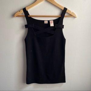 Cross Stitch Heart black cross front sweater tank